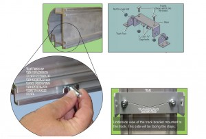 This image shows the mounting brackets and how they are attached to the track.